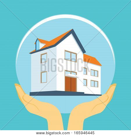 home insurance with dome illustration vector design concept