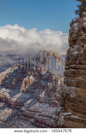 the south rim grand canyon winter landscape