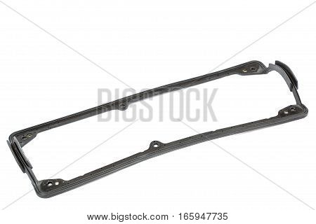 Gasket car engine valve cover isolated on white background.
