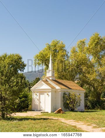 COLORADO SPRINGS CO/USA - SEPTEMBER 18 2016: American Mother's Chapel at Rock Ledge Ranch.