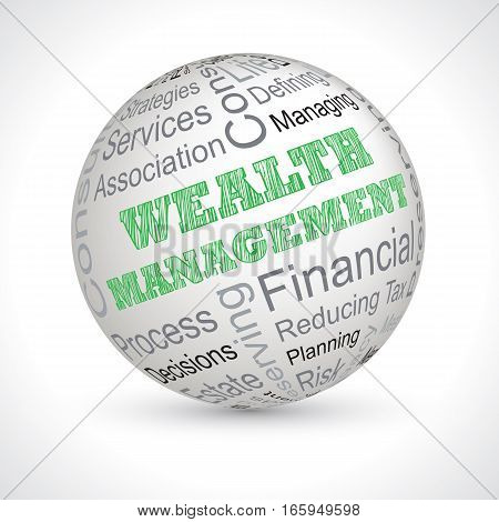 wealth management full vector theme sphere with keywords