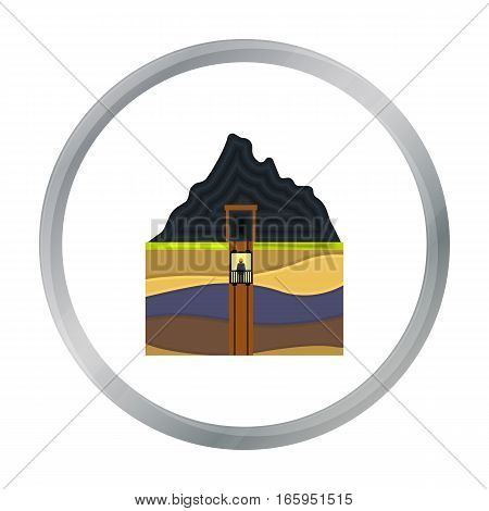 Mine shaft icon in cartoon style isolated on white background. Mine symbol vector illustration.