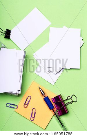 Stationery For Office: Blanks, Paper Clips, Pen, Binder Clips, Stickers