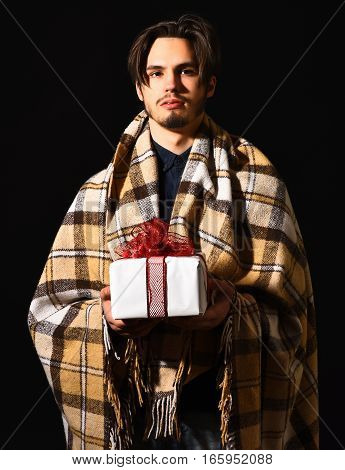 Handsome Bearded Man In Plaid