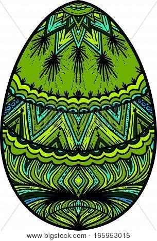 Ornamental colorful easter egg element for design.