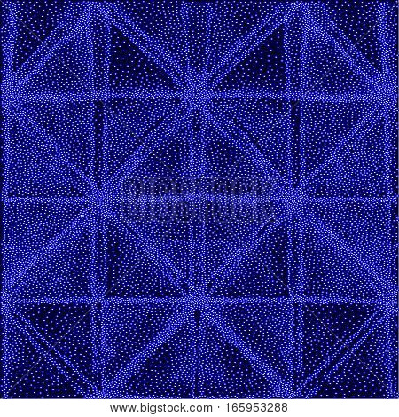 Abstract blue dotted texture. Grunge background. Element for design.