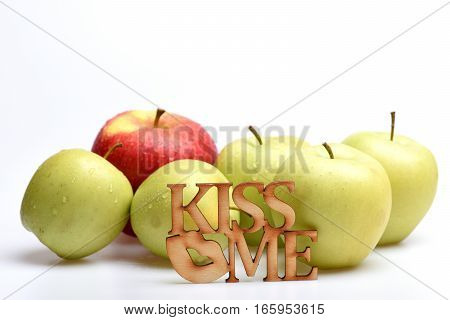 Red And Green Apple Fruit With