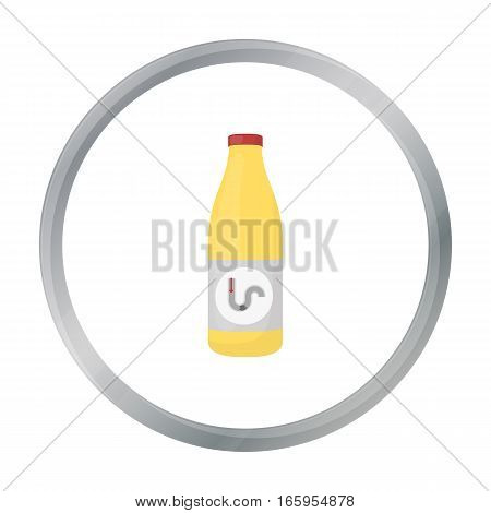 Drain cleaner icon in cartoon style isolated on white background. Plumbing symbol vector illustration.