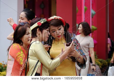Beautiful Vietnamese Girl With Traditional Dress, Ao Dai