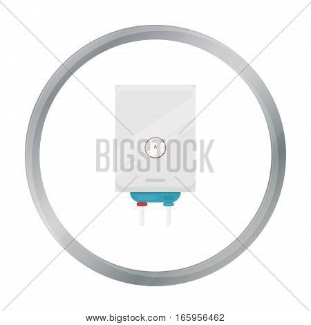 Boiler icon in cartoon style isolated on white background. Plumbing symbol vector illustration.