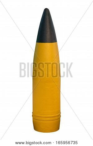 image of cannon shell isolated on white background