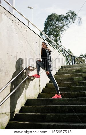 Urban Woman On Fitness Outdoor Workout