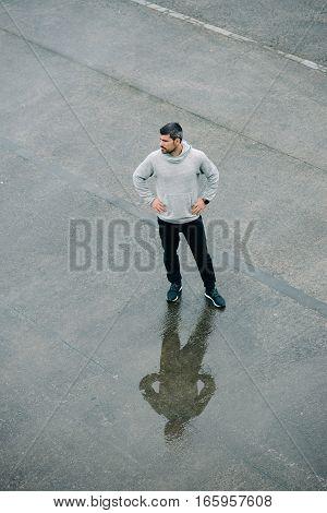 Urban Runner Taking A Workout Rest