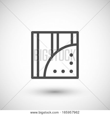 Gypsum plasterboard line icon isolated on grey. Vector illustration