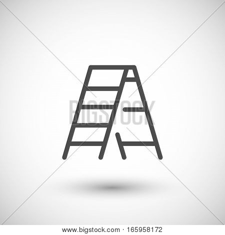Ladder line icon isolated on grey. Vector illustration