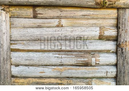 closeup bamboo panel striped frame texture background