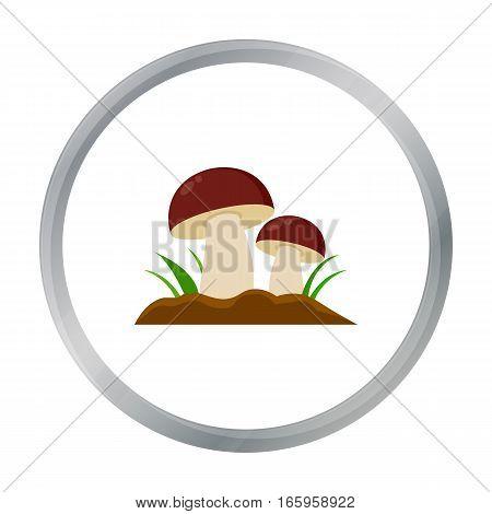Mushroom icon cartoon. Single plant icon from the big farm, garden, agriculture cartoon. - stock vector