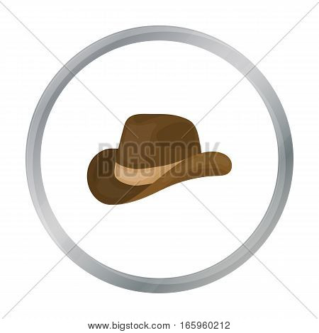 Cowboy hat icon in cartoon style isolated on white background. Patriot day symbol vector illustration.