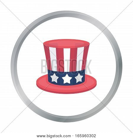 Uncle Sam's hat icon in cartoon style isolated on white background. Patriot day symbol vector illustration.