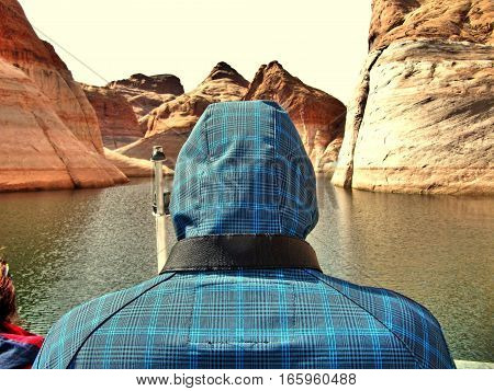 Tourist by Lake Powell boat tour - Page