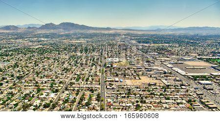 Las Vegas Nevada - Residential aereal view