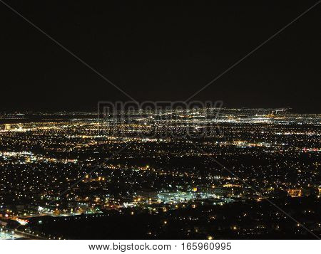 Las Vegas - Residential aereal night view