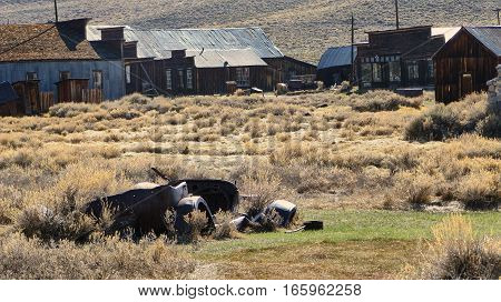 The Ghost Town of Bodie - Car wreck