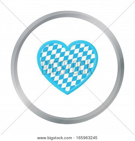 Oktoberfest heart icon in cartoon style isolated on white background. Oktoberfest symbol vector illustration.