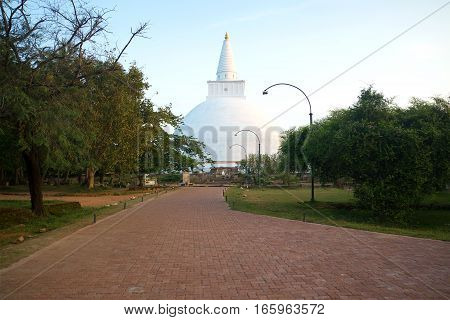 Mirisaveti's Dagoba early in the morning. Anuradhapura, Sri Lanka