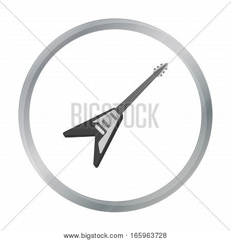 Electric guitar icon in cartoon style isolated on white background. Musical instruments symbol vector illustration