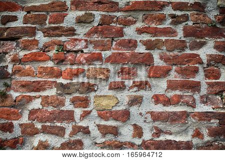 An old brick wall background. Wall texture.
