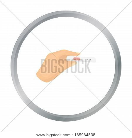 Pregnancy test icon in cartoon style isolated on white background. Pregnancy symbol vector illustration.