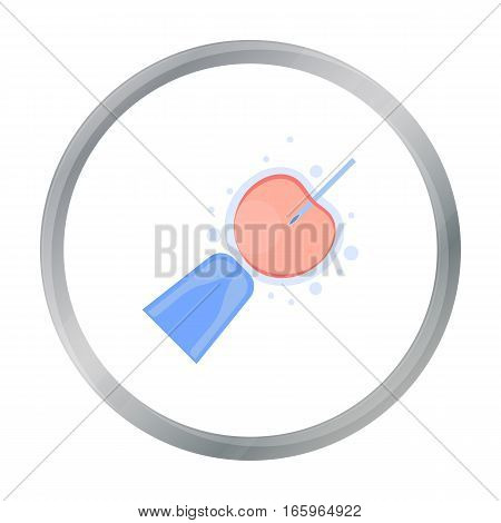 Artificial insemination icon in cartoon style isolated on white background. Pregnancy symbol vector illustration.