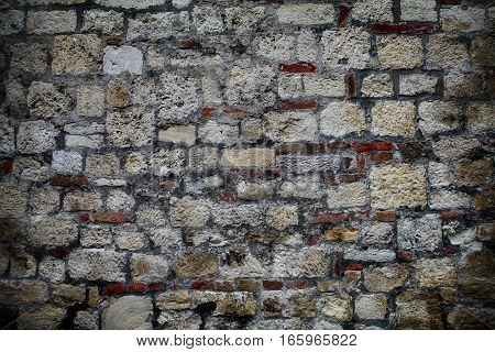 An old wall background. Wall texture. Stone wall.