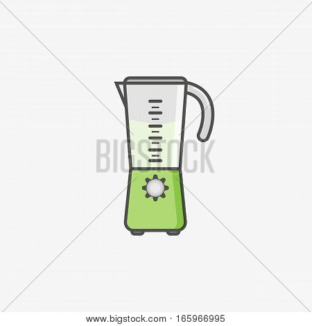 Blender icon. Simple flat icon of juice kitchen blender machine making drinks. Kitchen blender shake cooking. Mixing products for healthy drinks.
