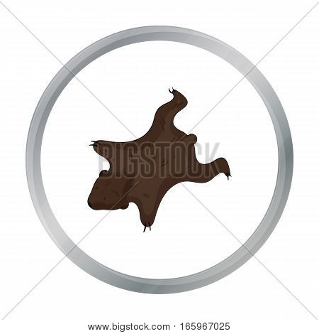 Bearskin icon in cartoon style isolated on white background. Stone age symbol vector illustration.