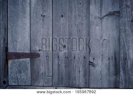 wood door old style and old metal lock