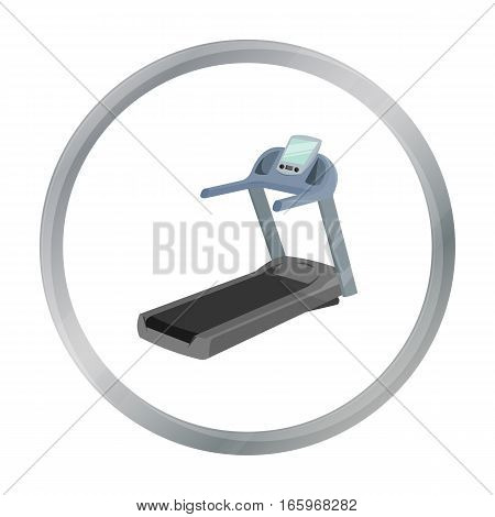 Treadmill icon cartoon. Single sport icon from the big fitness, healthy, workout cartoon. - stock vector