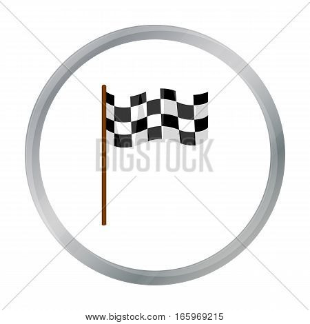 Checkered flag icon cartoon. Single sport icon from the big fitness, healthy, workout cartoon. - stock vector