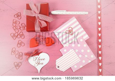 Writing Love Letters Flat Lay.