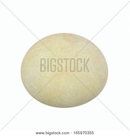 Circle round pebbles isolated on white background