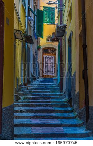 Cinque Terre, a number of old seaside villages in Italy