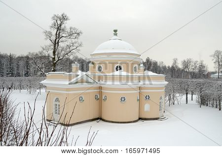 16.01.2017.Russia.Pushkin.Catherine Park.Lower bath.Here servants took water treatment.