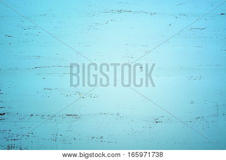 Aqua Green Blue Rustic Wood Background, With Applied Dark Vignette Filters.