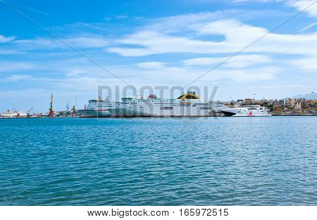 The Ferries In Port Of Heraklion