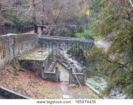 Sulphur Stream In Cyprus Mountains