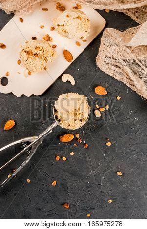 Home Made Caramel Nut Ice Cream