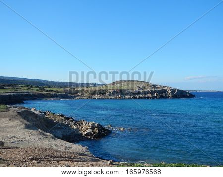 Beaurifull Rugged Rocky Coast Of Karpasia Peninsula