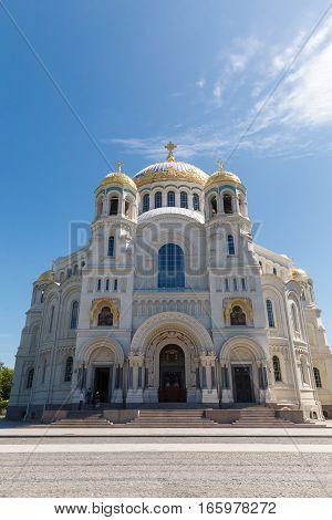 Naval cathedral of Saint Nicholas in Kronstadt, St.-Petersburg, Russia