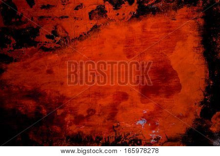 Editable Red Color Of  Old Weathered Wall Texture Background